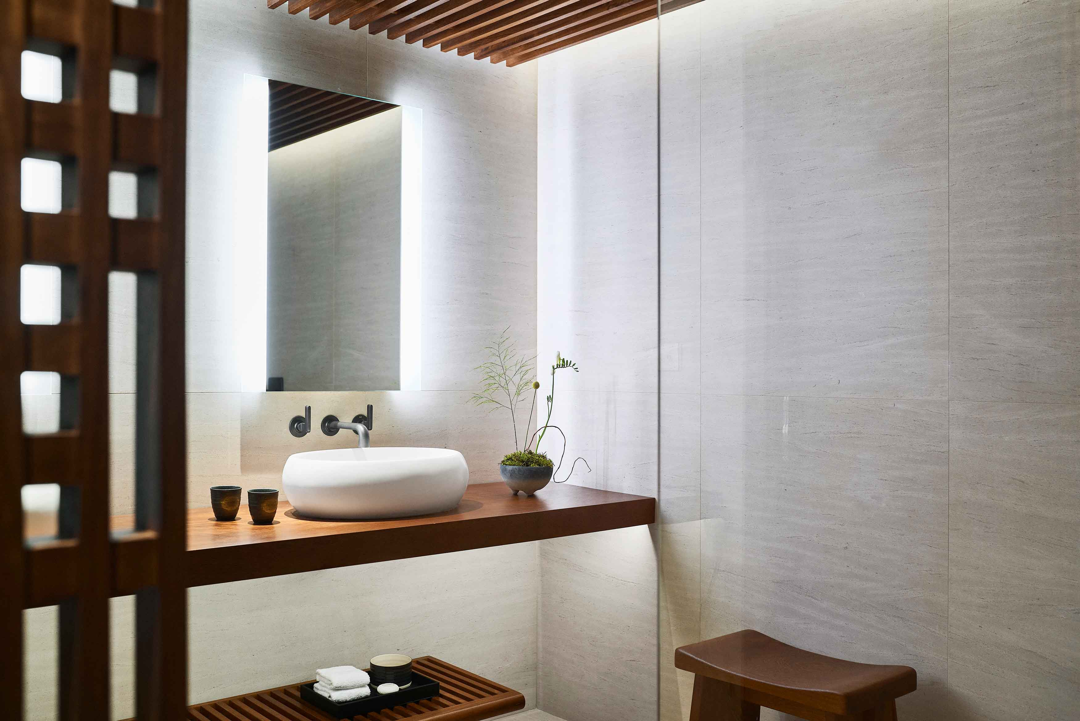 Nobu Hotel Barcelona Bathroom detail