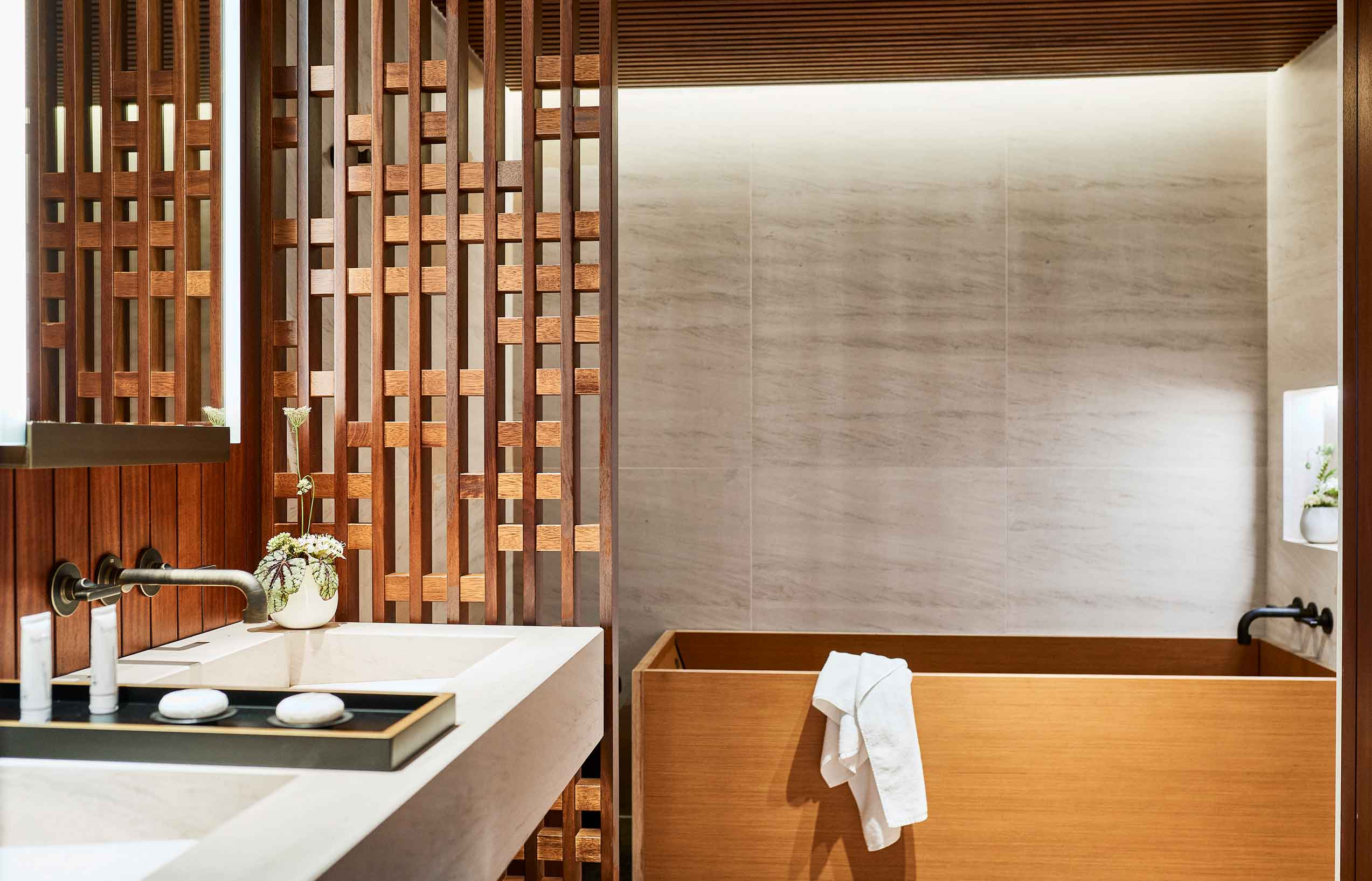 bathroom at nobu barcelona